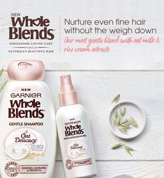 Don't miss out on trying the New Whole Blends Oat Delicacy Shampoo & Conditioner - Sign up for a free sample while supplies last!