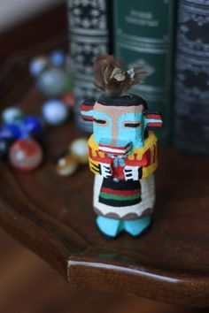 Hopi Kachina Doll Lizard Signed by L Pooley. $50.00, via Etsy.  #Vintage #Collectibles #Doll #vintage #hopi #lizard #indian #route #66 #native #american #doll #spirit #artist #signed #kachina #katsuina #Pooley