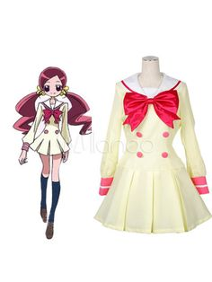 Heart Catch School Uniform Satin Uniform Cloth Cosplay Costume - Milanoo.com