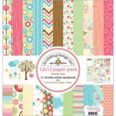 "Flower Box Paper Pack 12""X12""-"