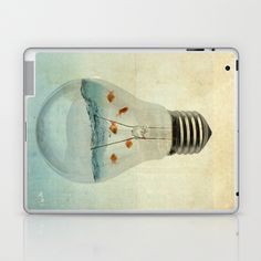 blue sea thinking Laptop & iPad Skin by Vin Zzep - $25.00