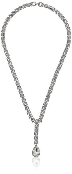Kenneth Jay Lane Bride Clear Crystal Arrow Y-Shaped Necklace, 20' -- Find out more about the great product at the image link.