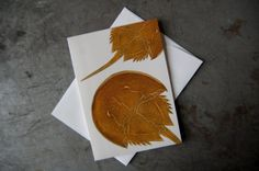 Horseshoe Crab Greeting Card  Sea Creature Art by PatWarwickTiles, $3.50