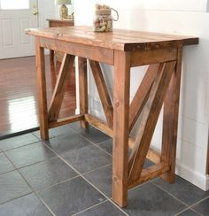 A great idea when starting to build furniture is to build something that calls for simple 2×4 boards, like this breakfast bar. *PLUS* 17 Simple Furniture Building Plans for Beginners