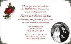 homemade 60th wedding anniversary decorations | 60th Wedding Anniversary Invitation Ideas