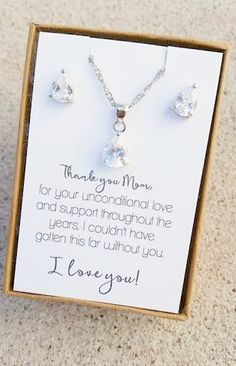 Elegant teardrop jewelry set. All orders come beautifully gift boxed with ribbon. Orders of $150 or more will receive free gift bags shipped seperately. 1 gift bag per item. Purchase add on items (gif