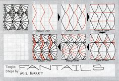 Fantails - tangle pattern