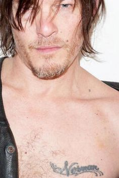 Norman Reedus and those collarbones.. and freckles.. and that hair..