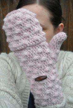 Powder Pink convertible Mittens Fingerless Gloves by luvbuzz,