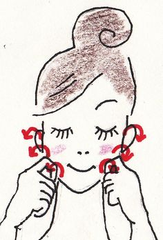 A new way to erase the groove- A new way to clear the groove of the Horai Line, Part 2 Summer Beauty Tips, Face Massage, Beauty Hacks, Hair Beauty, Snoopy, Drawings, How To Make, Fictional Characters, Exercises