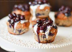 Protein Treats By Nicolette : Blueberry Vanilla Protein Muffins