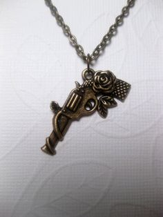Bang Guns And Roses Gun Necklace by FashionCrashJewelry on Etsy, $21.00