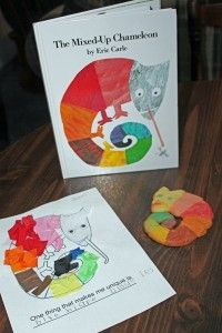 Printables and activities to go along with Eric Carle's The Mixed-Up Chameleon.