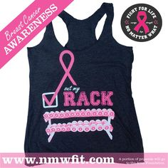 Check Out My Rack! #BreastCancer awareness- proceeds go to Avon Walk for Breast Cancer charity. Grab yours at www.nmwfit.com #savetheboobies