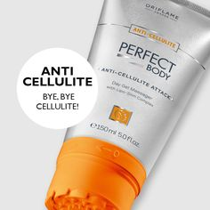 Sometimes your body might need a little help. Perfect Body anti-cellulite reduces cellulite appearance in a just a couple of weeks. And with the incorporated massager head and powerful fat-burning actives, it's a perfect addition to your work out!