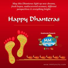 #DhanterasCelebration May this Dhanteras light up new dreams, fresh hopes, undiscovered avenues, different perspectives & everything bright. Happy Dhanteras.