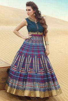Multicolor #Latest  #Bhagalpuri-Silk #ChuridarSuit with Dupatta