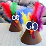 Turkey Cone Craft for Kids to Make (Party Hat Idea)
