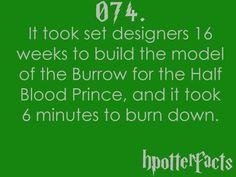 Harry Potter Facts The Burrow