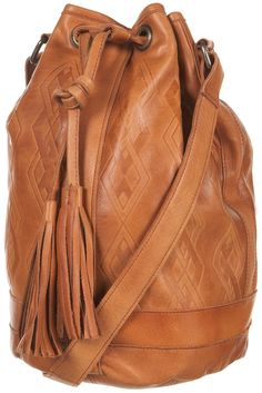 embossed leather duffle bag