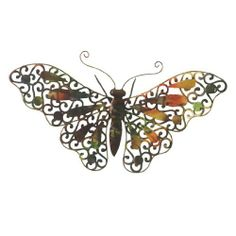 Wilco Imports  Butterfly Metal Wall Decor Brown by Wilco Imports. $22.02. Brown with a Touch of Color, Metal Wall Décor Butterfly, 17-1/2-inch by 8-3/4-inch. x18.5. Brown with a Touch of Color, Metal Wall Décor Butterfly, 17-1/2-inch by 8-3/4-inch