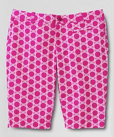 This Bright Magenta Circle Bermuda Shorts - Girls by Lands' End is perfect! #zulilyfinds