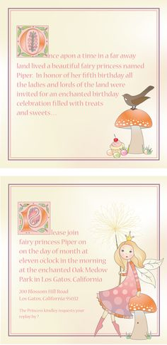 Fairy Princess Birthday Invite...