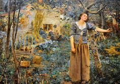 I love this painting.  At The Met.  Joan of Arc.  Jules Bastien-Lepage.