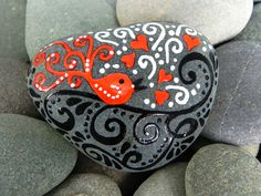 Sing a Song of Love / Painted Rock / Sandi Pike Foundas / Cape Cod. $36.00, via Etsy.