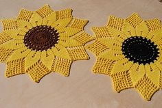 Best 11 Crochet sunflower doily / Lace / Yellow with black or brown / Crochet Round, Filet Crochet, Crochet Motif, Lace Doilies, Crochet Doilies, Crochet Flowers, Baby Cocoon Pattern, Crochet Baby Cocoon, Doily Patterns