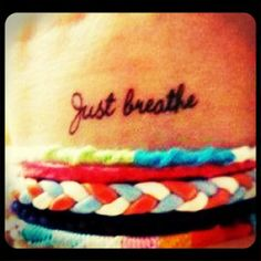 Not sure if I want 'just breathe' or just simply 'breathe' either way, I like both of these fonts
