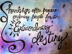 Extraordinary Destiny.  Original Watercolor by worDSMITHstudios, $10.00