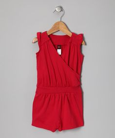 Take a look at this Grenadine Flutter Fun Romper - Infant, Toddler & Girls by Tea on #zulily today!