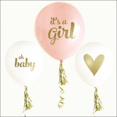 It's A Girl Baby Shower Balloons Set Of 6