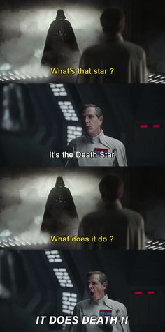 """It does death!"" I love this!  -Darth Vader and Krennic-"