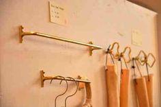 Brass towel hanger