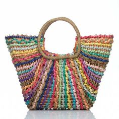 A multi-color straw purse...yes please!