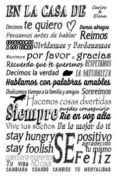 Las reglas de mi casa.  www.carlosgonzalezf.com