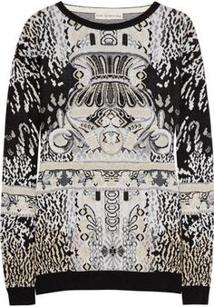 ShopStyle: Mary Katrantzou Intarsia knitted sweater