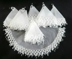 Items similar to Set with jar cover + 6 wine glass covers on Etsy Tablecloth Weights, Hanging Towels, Embroidery Jewelry, Wine Charms, Lampshades, Beaded Flowers, Doilies, Napkin Rings, Kit