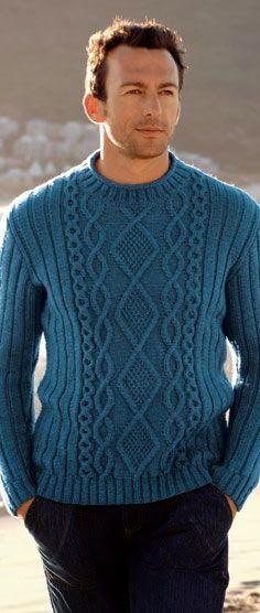 Вязание: Мужской пуловер