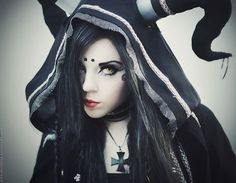 Entitle Fallen Angel. Lovely Goth girl whether she is an angel or not!