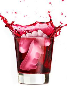 Take your punch to the next level with these fang-shaped ice cubes! #Halloween