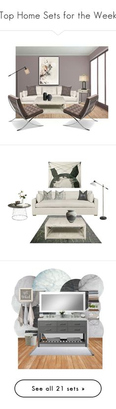 """""""Top Home Sets for the Week"""" by polyvore ❤ liked on Polyvore featuring interior, interiors, interior design, home, home decor, interior decorating, Levi's, Jonathan Adler, Kate Spade and Crate and Barrel"""