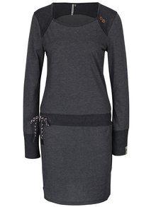 Tmavě šedé vzorované šaty s dlouhým rukávem Ragwear Mike Dress Organic -1629