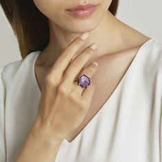 Amethyst and Diamond 'Brillante® Valentina' Ring, Grande - Paolo Costagli - 2