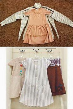 ARTE COM QUIANE - Paps,Moldes,E.V.A,Feltro,Costuras,Fofuchas 3D: transforme camisa em vestido infantil