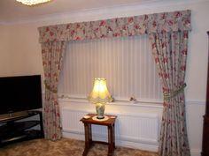 Lined curtains with pinch pleat valance
