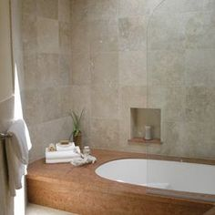 limestone and travertine bathroom, closet conversion - mediterranean - bathroom - san francisco - BMF CONSTRUCTION