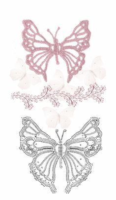 Free Crochet Butterfly Patterns ⋆ Crochet Kingdom With over 50 free crochet butterfly patterns to make you will never be bored again! Get your hooks out and let's crochet some butterflies! Filet Crochet, Art Au Crochet, Crochet Diy, Crochet Diagram, Freeform Crochet, Crochet Chart, Thread Crochet, Irish Crochet, Crochet Motif